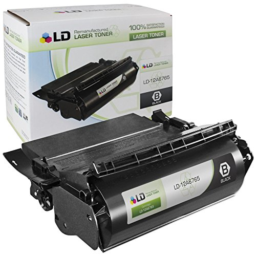LD c Compatible ブラック Laser Toner Cartridge for Lexmark 12A6765 (T620, T622, X620 Series Printers) (海外取寄せ品)