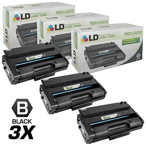 LD c Remanufactured リプレイスメント for Ricoh 406989 セット of 3 ハイ Yield ブラック Laser Toner Cartridges for use in Ricoh Aficio SP 3500DN, 3500N, 3500SF, 3510DN, and 3510SF Printers (海外取寄せ品)
