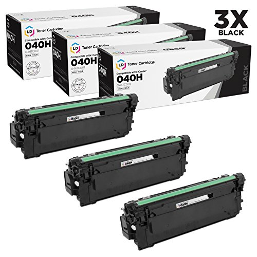 LD c Compatible Canon 040H / 0461C001 パック of 3 ハイ-Yield ブラック Toner Cartridges for use in ImageCLASS LBP712Cdn (12,500 ページ Yield) (海外取寄せ品)