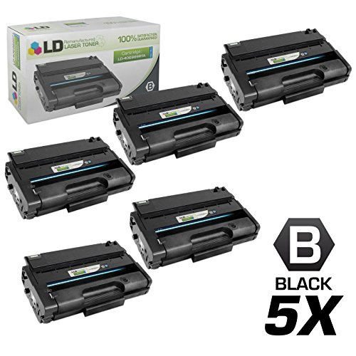 LD c Remanufactured リプレイスメント for Ricoh 406989 セット of 5 ハイ Yield ブラック Laser Toner Cartridges for use in Ricoh Aficio SP 3500DN, 3500N, 3500SF, 3510DN, and 3510SF Printers (海外取寄せ品)