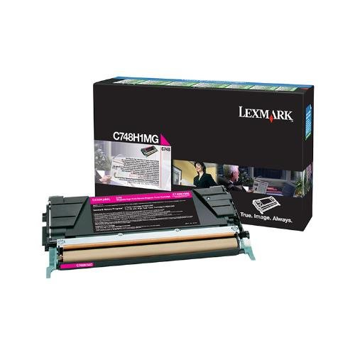 LEXC748H1MG - Lexmark C748 Magenta ハイ Yield Return Program Toner Cartridge (海外取寄せ品)
