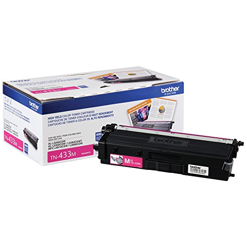 Brother Printer TN433M ハイ Yield Toner-Retail パッケージング , Magenta (海外取寄せ品)