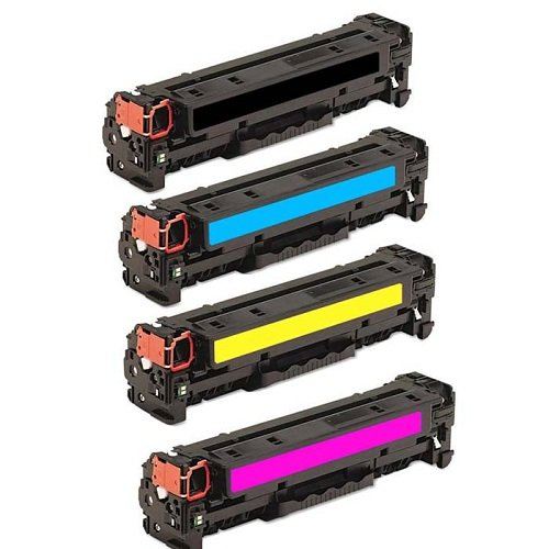 AZ サプライ c Compatible リプレイスメント Toner Cartridges for HP 125A, CB540A, CB541A, CB542A, CB543A 4 カラー セット for use in HP カラー LaserJet CM1312, CM1312nfi MFP, CP1215, CP1515N, CP1518NI (海外取寄せ品)