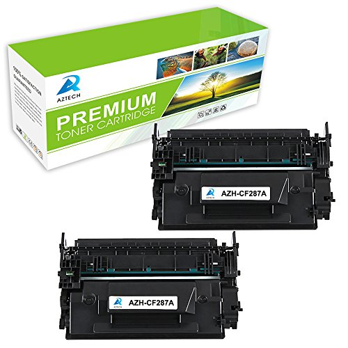 AZTECH 2 パック 9,000 ページ Yield ブラック Toner Cartridge Replaces HP 87A CF287A CF287 Used for Printers HP LaserJet M506 M506n M506x M506dn LaserJet MFP M527 M527dn M527z M527f LaserJet プロ M501n M501dn (海外取寄せ品)