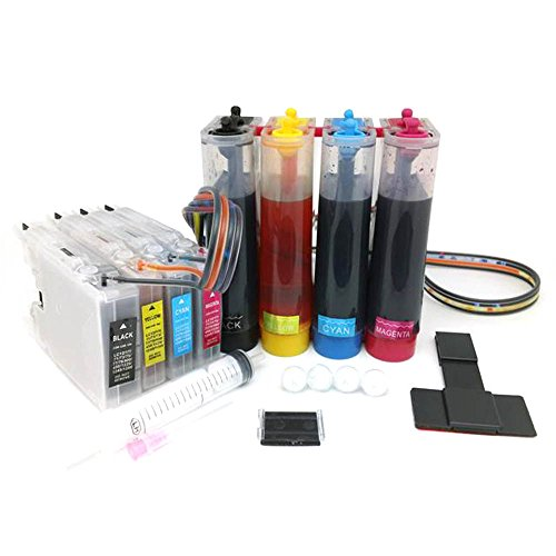 CISinks Continuous Ink サプライ System CISS for Brother Printers (LC71 LC75) - MFC-J280W MFC-J425W MFC-J430W MFC-J435W MFC-J5910DW MFC-J625DW MFC-J6510DW MFC-J6710DW MFC-J6910DW MFC-J825DW MFC-J835DW CIS (海外取寄せ品)