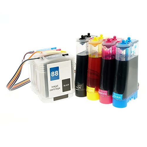 CISinks Continuous Ink サプライ System CISS for HP 88 Printers - Officejet プロ K5400 K5400dn K5400dtn K5400tn K8600 K550 K550dtn K550dtwn L7580 L7680 L7780 L7681 L7750 L7550 L7555 L7590 L7650 L7480 L7500 L7600 L7700 - CIS (海外取寄せ品)