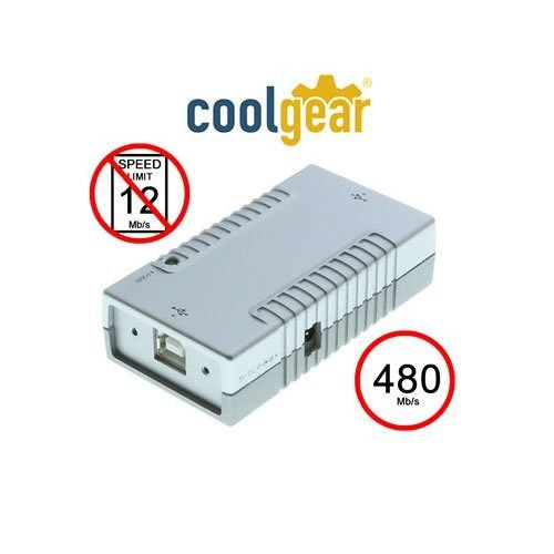 Coolgear USB 2.0 ハイ スピード 480Mbps Isolator Adapter and ネジ ロック ケーブル (海外取寄せ品)