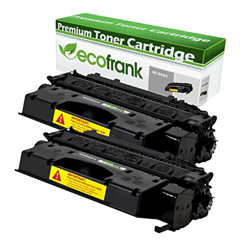 EcoFrank Compatible (High Yield) Toner Cartridge リプレイスメント for HP 05X CE505X (Black, 2-Pack) (海外取寄せ品)