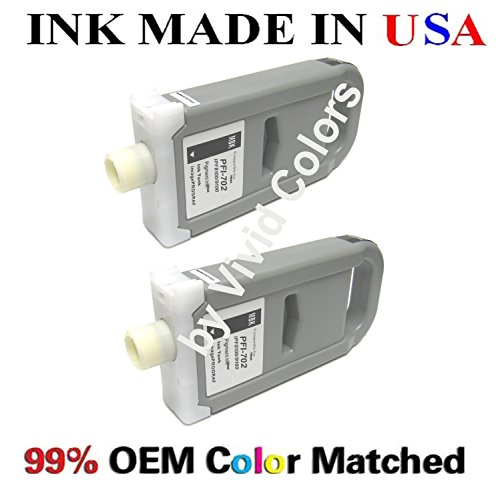 PFI-702 New compatible ink cartridges for Canon ipf8100/9100-A セット of 2 マット ブラック (海外取寄せ品)