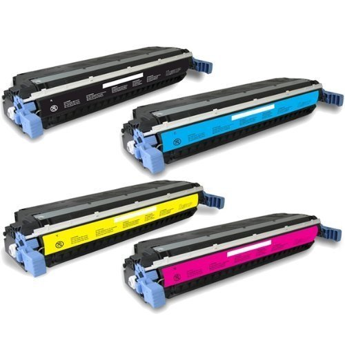 A Plus Compatible Toner Cartridge リプレイスメント for HP C9730A ( ブラック,シアン,Magenta,イエロー , 4-パック ) (海外取寄せ品)