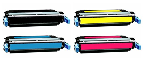 Aplus c Remanufactured リプレイスメント Laser Toner Cartridges for Hp カラー Laserjet Cp4005: 1 ブラック Cb400a, 1 シアン Cb401a, 1 Magenta Cb403a and 1 イエロー Cb402a (海外取寄せ品)