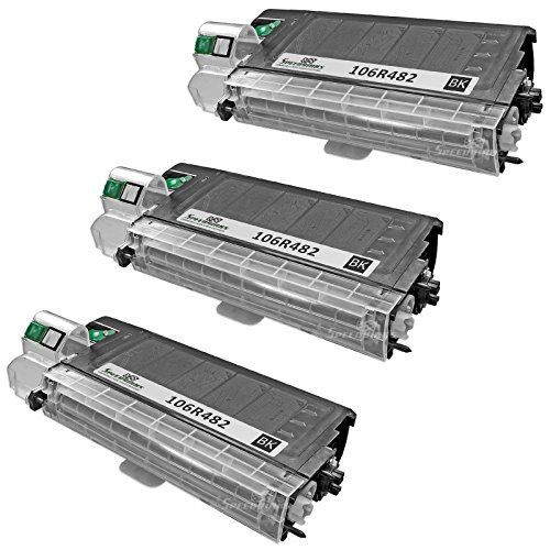 Speedy Inks - 3pk Compatible Xerox 106R482 ブラック Laser Toner Cartridge for use in WorkCentre XL2120, XL2120 デジタル, XL2130, XL2130f, XL2130f デジタル, XL2140, XL2140df, XL2140df デジタル (海外取寄せ品)