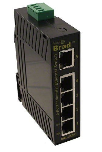 Molex 1120360043 ダイレクト リンク Series 200 Unmanaged Ethernet Switch, 5-Port (4-RJ45, 1-Multimode SC Fiber), IP30 (海外取寄せ品)
