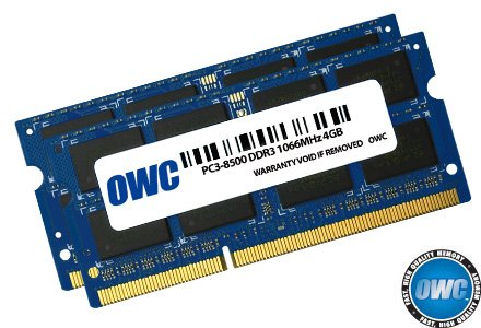 OWC 8.0 GB (2x 4GB) PC8500 DDR3 1066 MHz 204-ピン メモリ memory Upgrade キット For MacBook プロ, MacBook, Mac ミニ and iMac (海外取寄せ品)