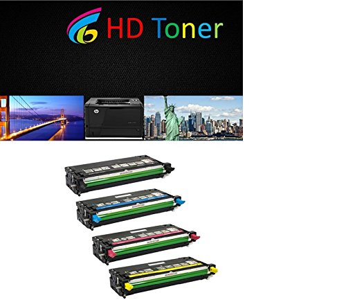 HD Toner c Compatible X560H2CG ハイ Yield 4 Laser Toner Cartridges consists ブラック シアン Magenta イエロー for Lexmark X560 (海外取寄せ品)