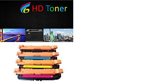 HD TonerR リプレイスメント for HP 507A HP CE400X, CE401A, CE402A, CE403A 5-PK Toner Cartridges for HP LaserJet Enterprise 500 カラー M551dn, M551n, M551xh, MFP M575dn, MFP M575f, and MFP M575c (海外取寄せ品)