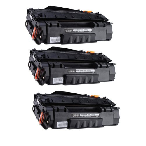 HI-ビジョン HI-YIELDS R Compatible Toner Cartridge リプレイスメント for Hewlett-Packard (HP) Q5949A (3-Pack) (海外取寄せ品)