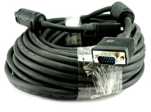 Importer520 100 FT SVGA HD15 SUPER VGA Male to Male M/M モニター/LCD/PROJECTOR ケーブル (海外取寄せ品)