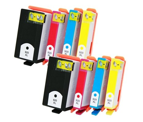 ink4work セット of 8 パック Remanufactured HP 920XL (with ink Level) Ink cartridge (B,C,M,Yx2) For officejet 6000, 6500, 7000 (海外取寄せ品)