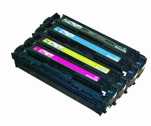 Ink4work 4 パック Remanufactured Toner Cartridge to replace HP CB540A, CB541A, CB542A, CB543A フィット カラー Laserjet CM1312/CP1215/CP1515 (海外取寄せ品)