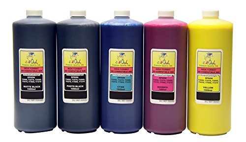 InkOwl - 5x1L バルク Pigment Ink for EPSON SureColor T3000, T3270, T5000, T5270, T5270D, T7000, T7270, T7270D - メイド in the USA (海外取寄せ品)