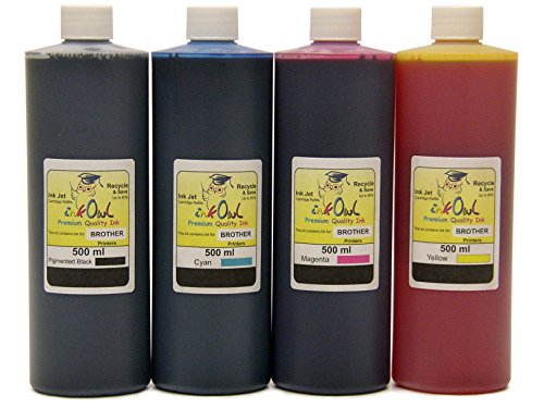 4x500ml InkOwl ink for BROTHER - メイド in the USA (海外取寄せ品)