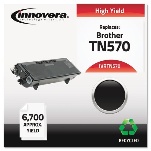 Innovera 83570 Compatible Remanufactured ハイ-Yield Toner, 6700 ページ-Yield, ブラック (IVRTN570) Category: Laser Toner Cartridges by Innovera (海外取寄せ品)