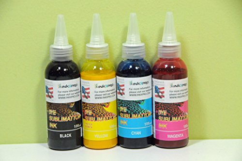 XPRO 4 X 100ml Professional True カラー Sublimation ink refills for エプソン Epson workforce 3520 3540 3620 3640 7010 7510 7520 7110 7610 7620 printers (For sublimation printing only) (海外取寄せ品)