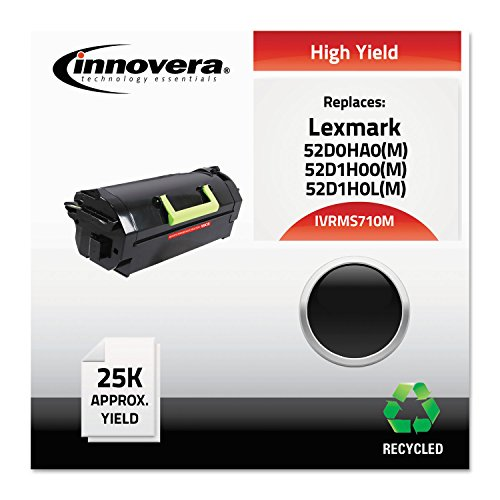 Innovera - Ms710M Compatible Reman 52D0Ha0 ハイ-Yield Toner, 25000 ページ-Yield, ブラック (海外取寄せ品)