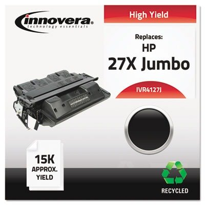 Innovera - 4127J Compatible, Remanufactured, C4127X(J) (27J) Toner, 14000 Yield, ブラック - IVR4127J (海外取寄せ品)