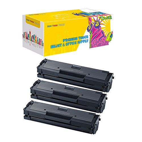 New ヨーク Toner New Compatible Remanufactured 3-パック MLT-D111S Toner for サムスン Xpress M2020W & M2070DW Printers -- ブラック (海外取寄せ品)