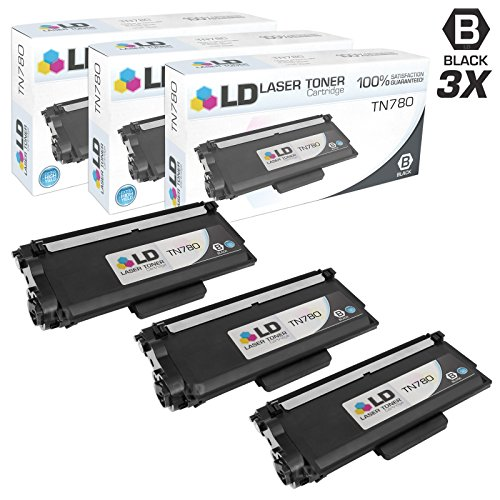 LD c Compatible Brother TN780 3PK エクストラ ハイ Yield ブラック Laser Toner Cartridges for use in Brother HL 6180DW, 6180DWT, MFC 8950DW, & 8950DWT (海外取寄せ品)