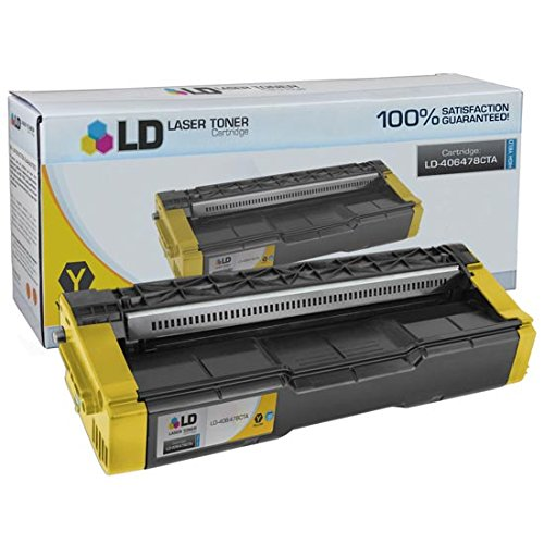 LD c Compatible リプレイスメント for Ricoh 406478 ハイ Yield イエロー Laser Toner Cartridge for use in Ricoh Aficio SP C231N, SP C232DN, SP C242DN, SP C242SF, and SP C320DN Printers (海外取寄せ品)