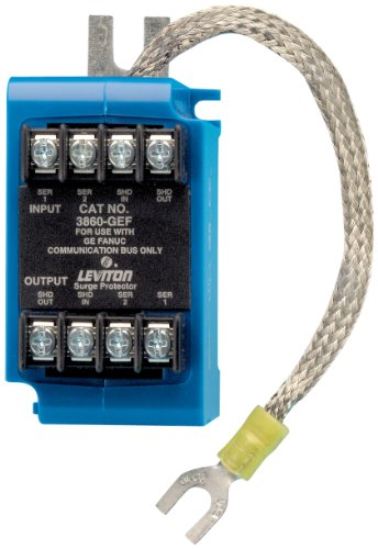 Leviton 3860-GEF 100 Volt DC Pole, Communication モジュール Surge プロテクティブ Device, Ge Fanuc Control Bus Network, Surface and Din-レール Mounted (海外取寄せ品)