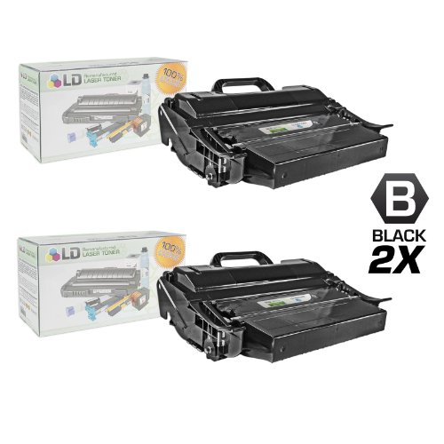 LD c Remanufactured IBM 39V2969 セット of 2 ハイ Yield ブラック Laser Toner Cartridges (海外取寄せ品)