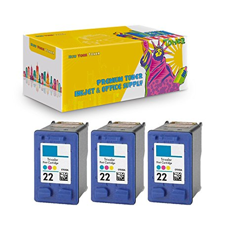 New ヨーク TonerTM New Compatible 3 パック C9352A XL (HP 22) ハイ Yield Inkjet For HP : DeskJet : 3930 series | 3940 series | PSC : 1410 series . -- カラー (海外取寄せ品)