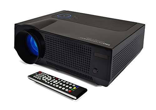 FAVI 4T Ultra-ブライト LED LCD (HD 720p) ホーム シアター Projector - US Version (Includes Warranty) - ブラック (RIOHDLED4T-US7) (海外取寄せ品)