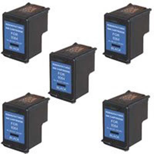 Amsahr 98(C9364W) Remanufactured リプレイスメント HP Ink Cartridges for セレクト Printers/Faxes - 5 パック, ブラック (海外取寄せ品)