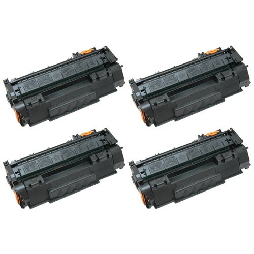 Amsahr C4092A HP C4092A, 1100, 1100A, 3200 Compatible リプレイスメント Toner Cartridge with Four ブラック Cartridges (海外取寄せ品)