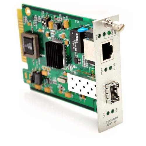 CableRack 10/100/1000TX to 1000SX/LX メディア Converter Card with SFP スロット (海外取寄せ品)