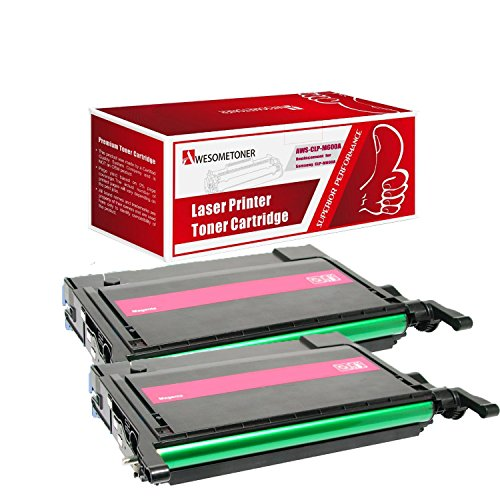 Awesometoner 2 パック Compatible CLP-M600A Toner Cartridge For サムスン CLP-600 CLP-600N ハイ Yield 4,000 ページ (海外取寄せ品)