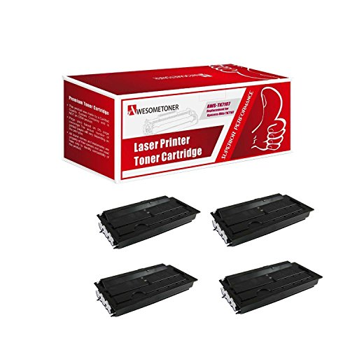 Awesometoner Compatible 4 パック TK7107 Toner Cartridge For Kyocera-Mita TASKalfa 3010i ハイ Yield 20000 ページ (海外取寄せ品)
