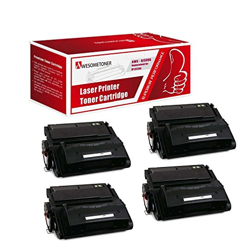 Awesometoner Compatible 4 パック Q1339A Toner Cartridge For HP LaserJet 4300 4300DTN 4300DTNS 4300DTNSL 4300L 4300LN 4300LVN 4300N 4300TN ハイ Yield 20000 ページ (海外取寄せ品)
