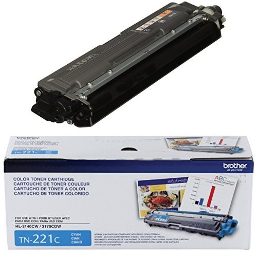 Brother Printer TN221BK スタンダード Yield ブラック Toner Cartridge and Brother Printer TN221C スタンダード Yield シアン Toner Cartridge バンドル (海外取寄せ品)