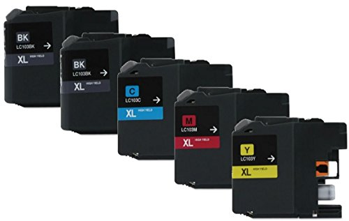Axiom 5Pack Remanufactured LC103 LC105 Ink Cartridge For Brother DCP-J152W MFC-J245 MFC-J285DW MFC-J4310DW MFC-J4410DW (海外取寄せ品)