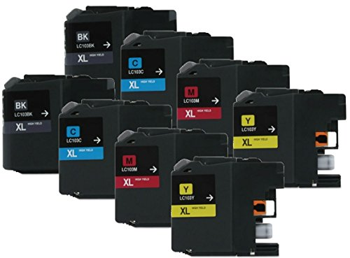 Axiom 8Pack Remanufactured LC103 LC105 Ink Cartridge For Brother DCP-J152W MFC-J245 MFC-J285DW MFC-J4310DW MFC-J4410DW (海外取寄せ品)