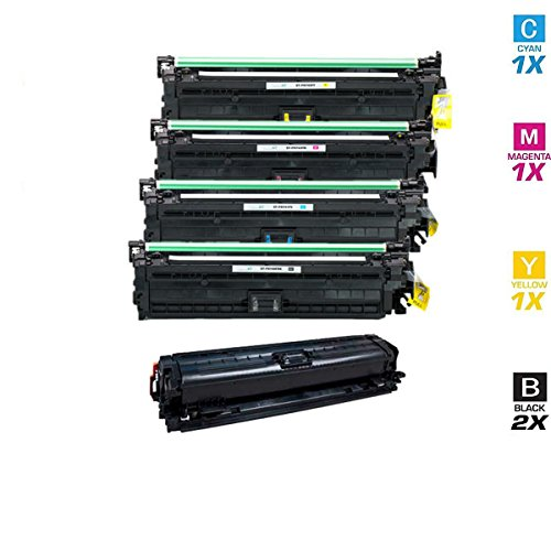 AZ サプライ Compatible リプレイスメント HP 307A HP CP5225 (2xCE740A, CE741A, CE742A, CE743A) 2xBlack シアン Magenta イエロー for HP カラー LaserJet CP5200, CP5225n, CP5220, CP5225dn, CP5200, CP5225n Printers (海外取寄せ品)