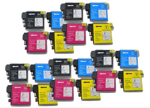 22PK Axiom Remanufactured Compatible LC61BK LC61C LC61M LC 61Y LC-61 Ink Cartridge For Brother Printer (海外取寄せ品)