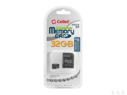 Cellet 32GB ICEMOBILE G7 Micro SDHC Card is Custom Formatted for デジタル ハイ スピード, lossless recording! インクルーズ スタンダード SD Adapter. (海外取寄せ品)