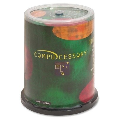 Compucessory プロダクト - CD-R, 52x, 700MB/80Min, Branded, 100/PK - ソールド as 1 PK - ブランド Brand CD-R (CD-Recordable) has a maximum スピード of 52X and a 700MB/80 ミニッツ capacity. CD-R オファー a ブランド Brand surface with a def (海外取寄せ品)
